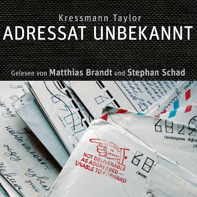 """""""Adressat Unbekannt"""" von Kressmann Taylor - Cover mit freundlicher Genehmigung vom ZYX Hörbuchverlag"""