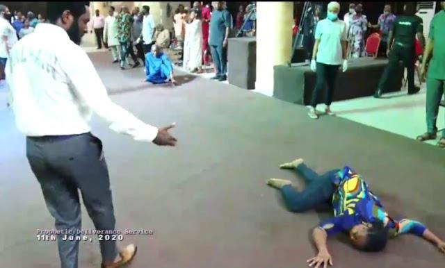 Video: See How Prophet Omale Healed Essien Emem Princess From 5 Years Seizure