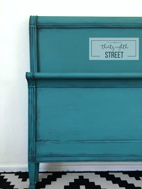 DIY painting furniture, furniture painting tutorial, worn turquoise look, bed transformation, chalk painted furniture by color, turquoise chalk painted furniture, painting, painted furniture, beautifully painted bed, bed makeover, worn turquoise, distressed turquoise furniture