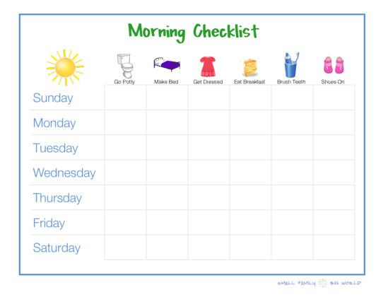 Morning checklist girlg also routine chart template rh autograph fandom