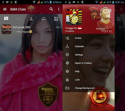 BBM Change Background With AS Roma v3.0.1.25 MOD APK