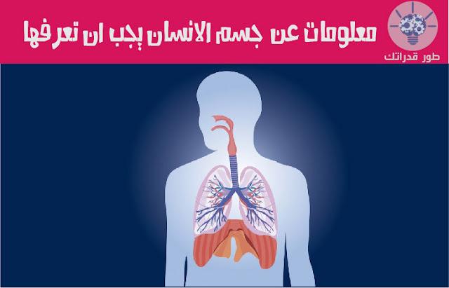 معلومات عن جسم الانسان يجب ان تعرفها
