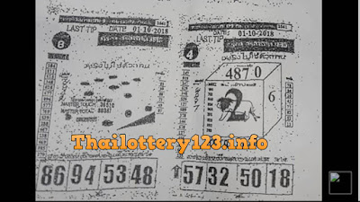 Thai Lottery Last Paper Full Magazine Tips 01 October 2018