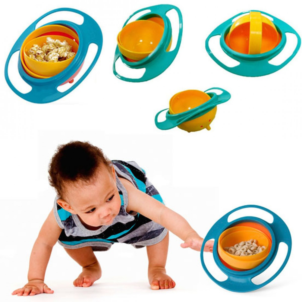 Parents no longer afraid to drop the baby food at home when feeding with this balanced food bowl.