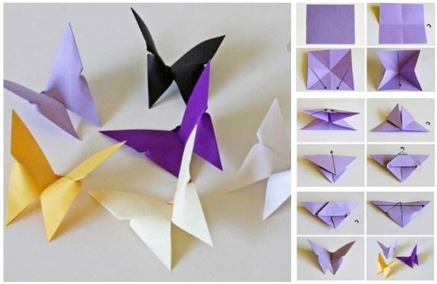 Mudah Kok Begini Cara Membuat Hiasan Dinding Kelas Dari Kertas Origami