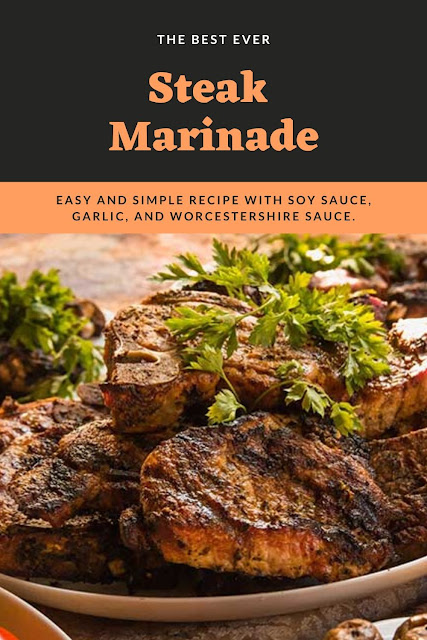The best steak marinade recipe ever. This tenderizing recipes easy to make with garlic, soy sauce, Worcestershire, lemon juice, and spices. This is great for a NY strip, tbone (t bone), sirloin, or ribeye. Make this easy quick marinade for grilled steaks. Make an easy simple homemade marinade for your steaks. #steak #marinade #recipe