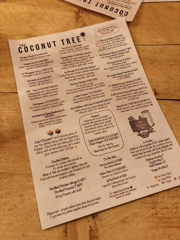 The Coconut Tree Bournemouth Review - my thoughts on the new Sri Lankan street food restaurant in town.