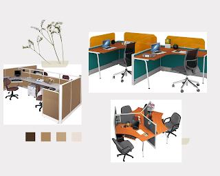Model meja partisi kantor arkadia furniture