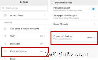 Cara membatasi pengguna WiFi hotspot HP Xiaomi