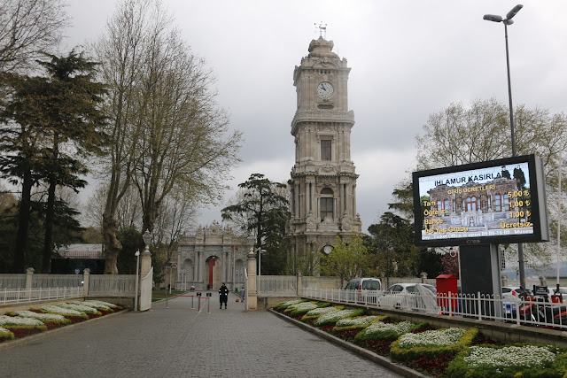 Welcome to the main gate of Dolmabahce Palace near Taksim Square in Istanbul, Turkey