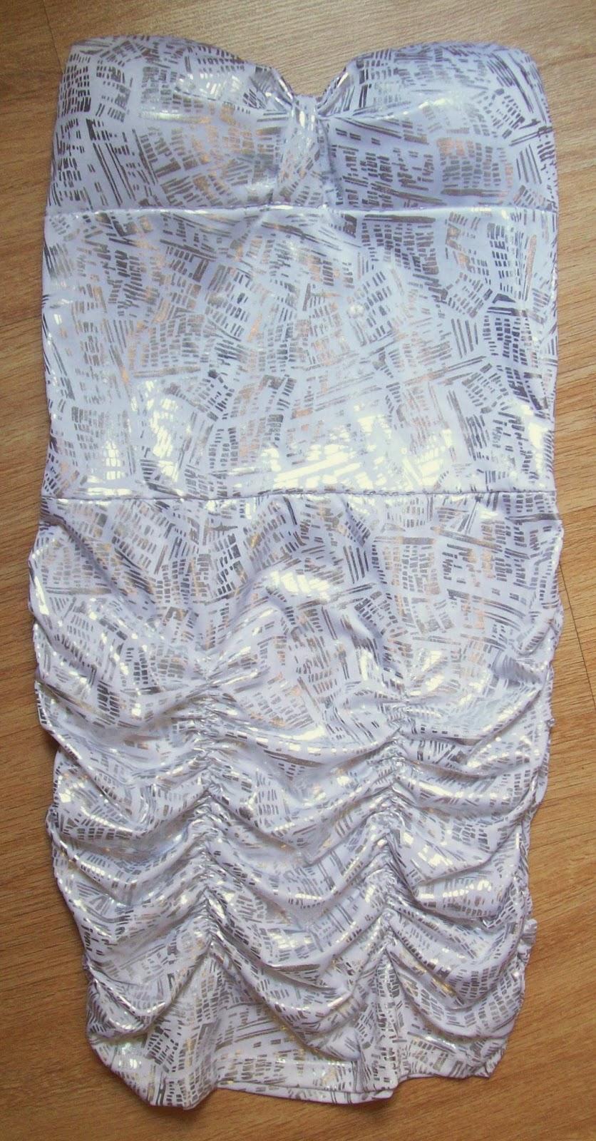 vestido TQC prata tamanho P