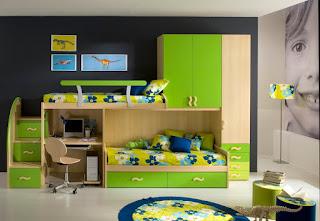 desain kamar anak minimalis modern perempuan