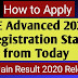 JEE Main Result 2020 Announced - JEE Advanced Registration Started