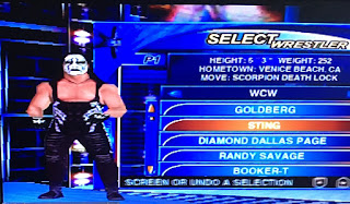 WCW Mayhem - PlayStation 1 Review - Roster selection Sting
