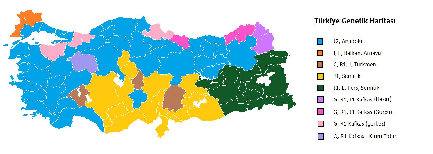 türkiyenin genetik haritası