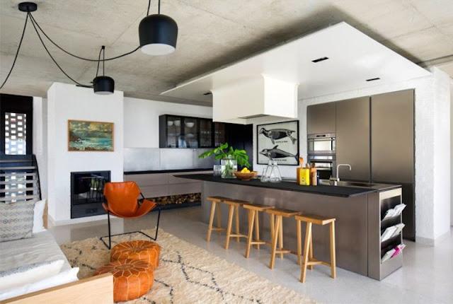 desain ruang makan dan ruang keluarga
