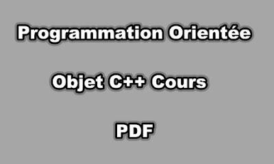 Programmation Orientée Objet C++ Cours PDF