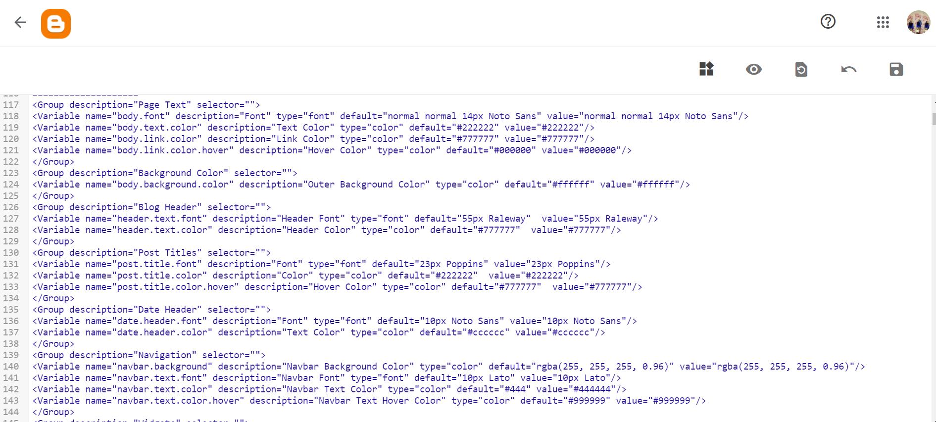 cara nak edit coding blogger - mesra seo - byfarahh.com
