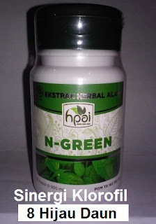 Khasiat manfaat N Green Palapa Hpai asli original klorofil 8 herbal