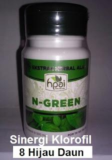 Khasiat manfaat N Green Palapa Hpai asli original klorofil 8 herbal