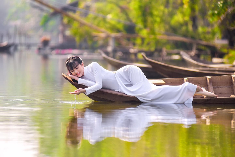 Tuyển tập girl xinh gái đẹp Việt Nam mặc áo dài đẹp mê hồn #57 - 10