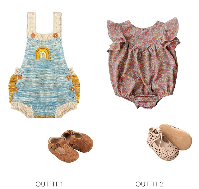 Kids Summer Romper Outfit Ideas Styled with Consciously Modern-Boho Shoes