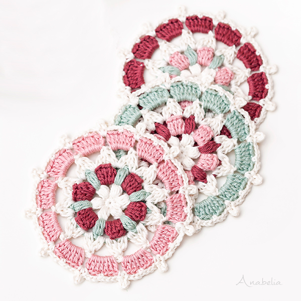 Japanese inspiration circular motif crochet pattern, Anabelia Craft Design