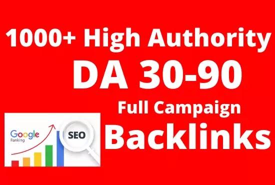 High Authority 1000 Dofollow Backlinks