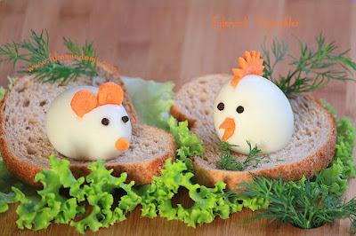 Eğlenceli Yiyecekler: Yumurtadan Fare ve Tavuk Yapımı