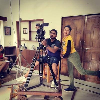 Pooja Joshi shooting photo