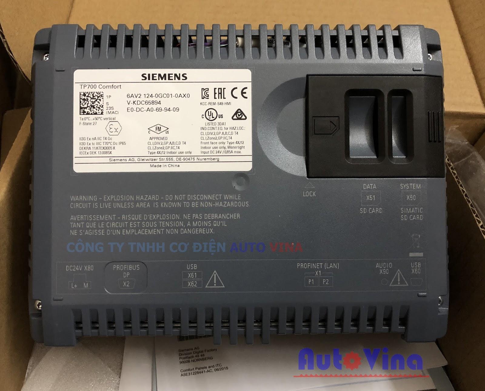 SIMATIC HMI TP700 Comfort 6AV2124-0GC01-0AX0