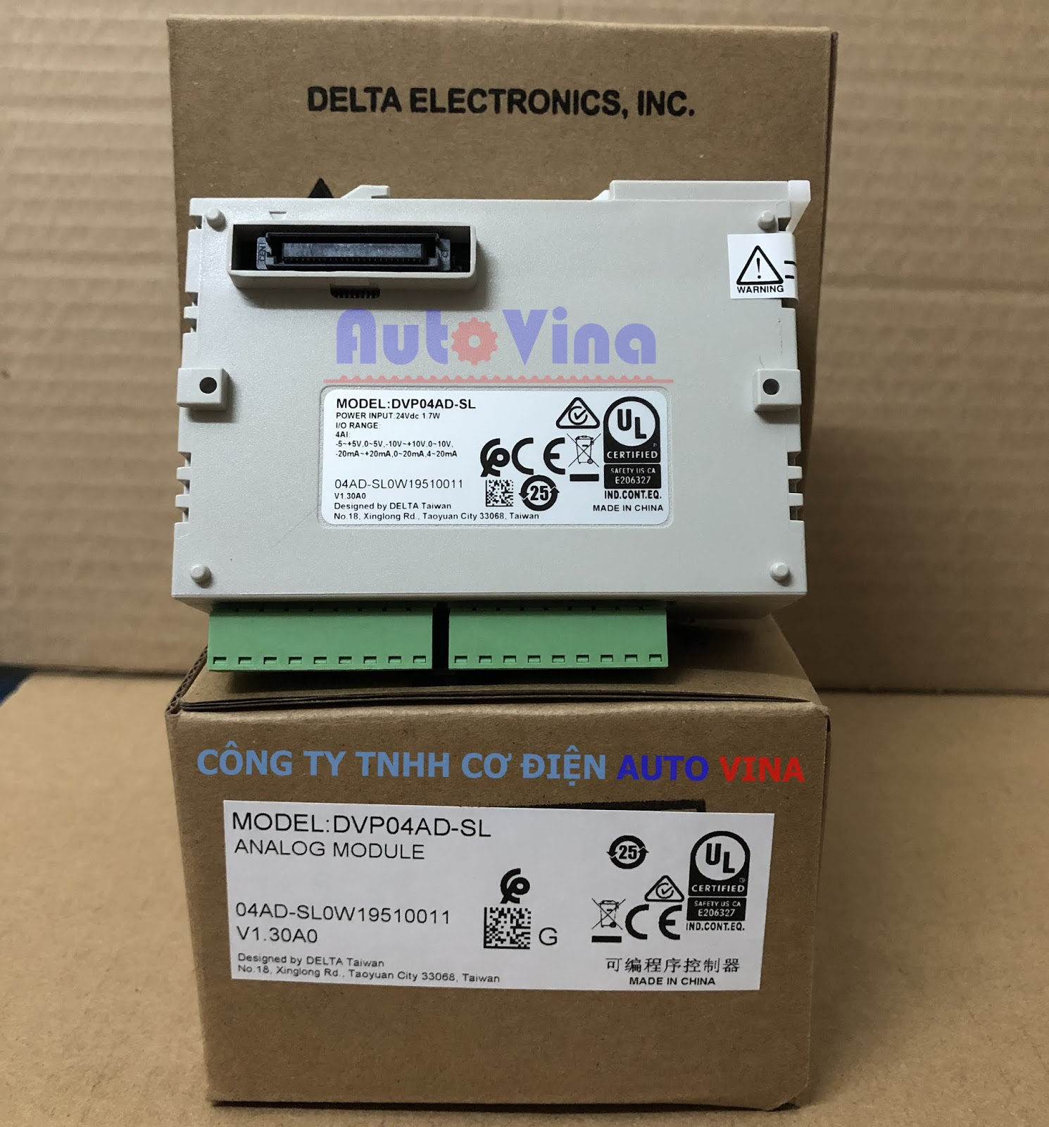 Đại lý bán module analog PLC Delta DVP04AD-SL 4 ngõ vào analog