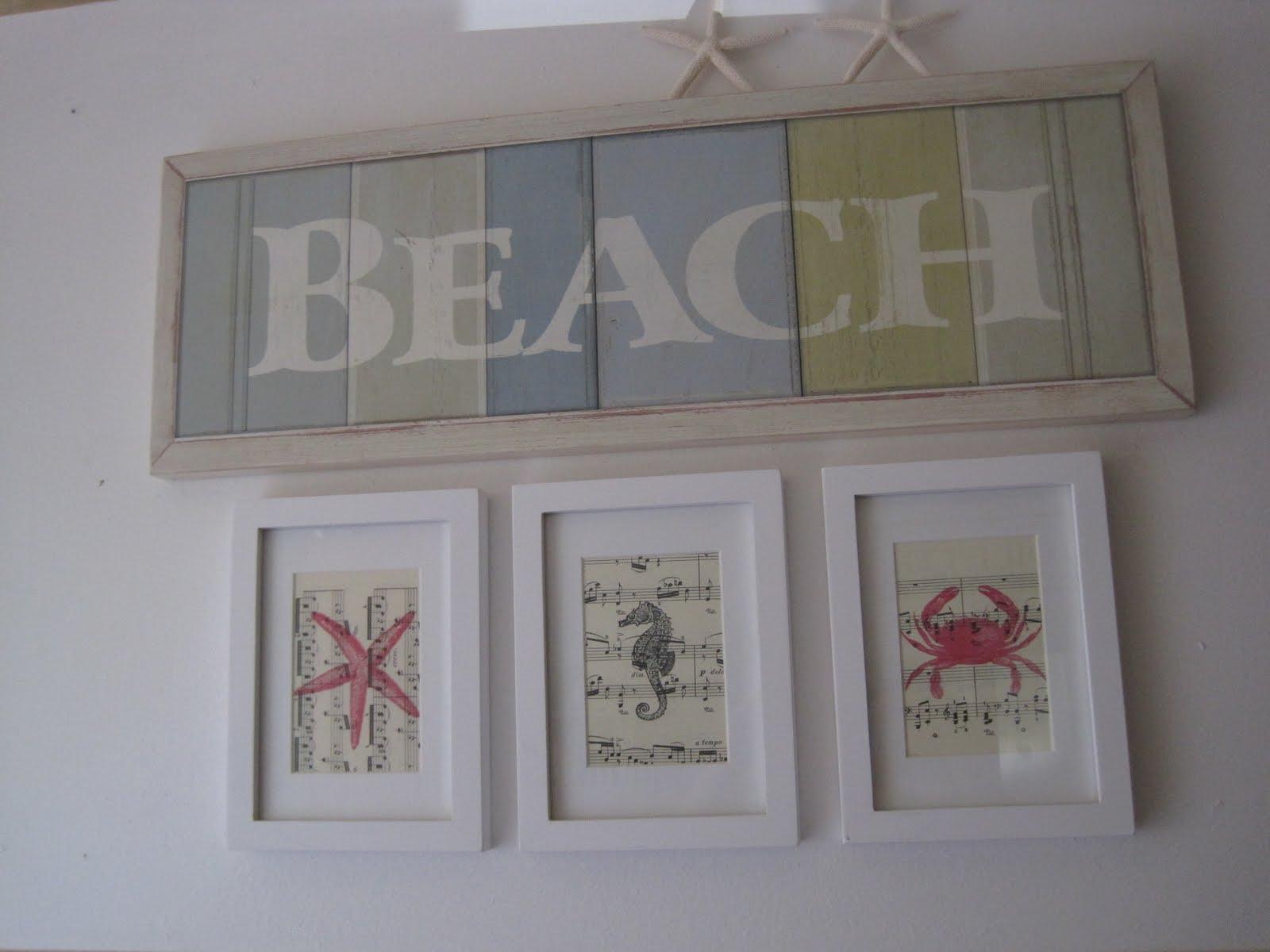 Beach Creatures Wall Art - Okio B Designs