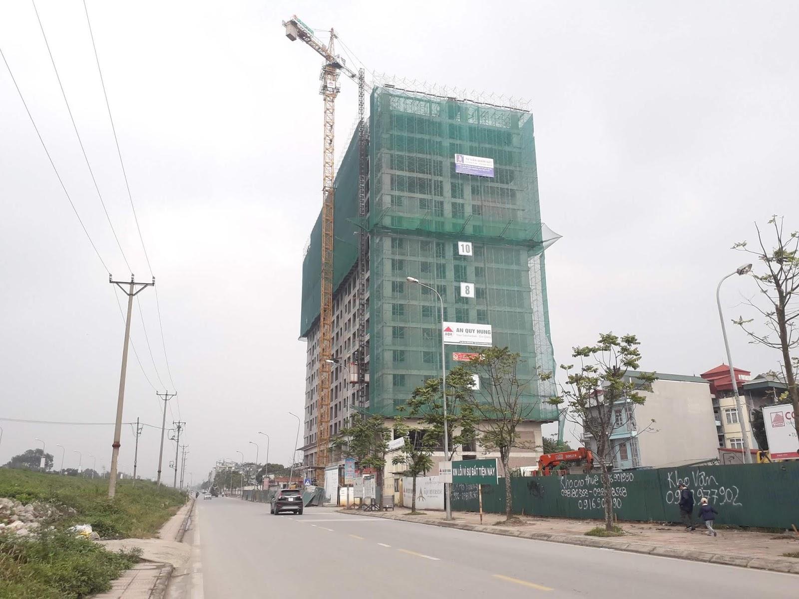 AQH Riverside đã được thi công đến tầng 17.