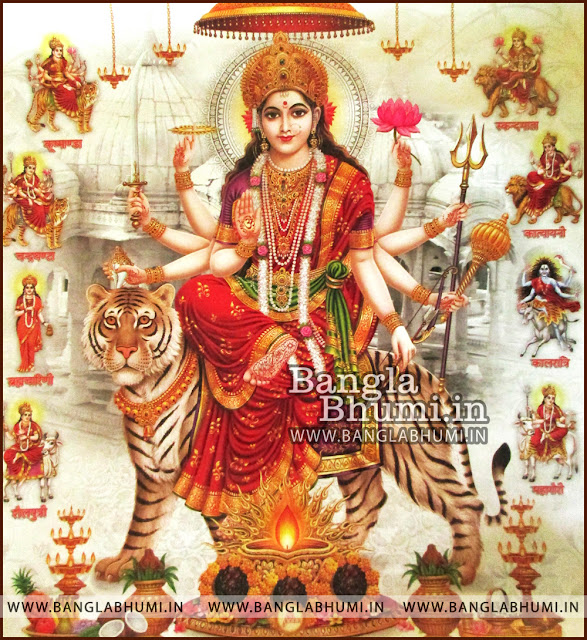 Maa Ambe Maa Durga India God HD Poster Wallpaper Free Download