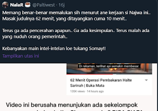 Buzzer: Narasi TV Judulnya 62 Menit, Kok Tayangnya Cuma 10 Menit? Netizen: Dasar Gobl*k!