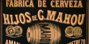 Foto cartel publicitario de la fábrica de cerveza hijos de Casimero Mahou
