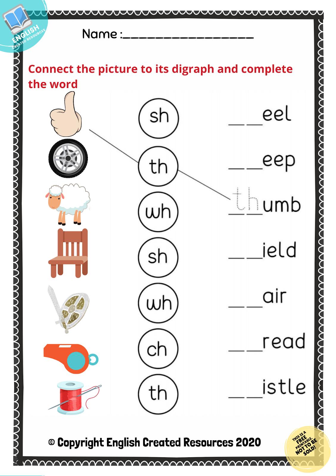 medium resolution of Consonant Digraphs Worksheets