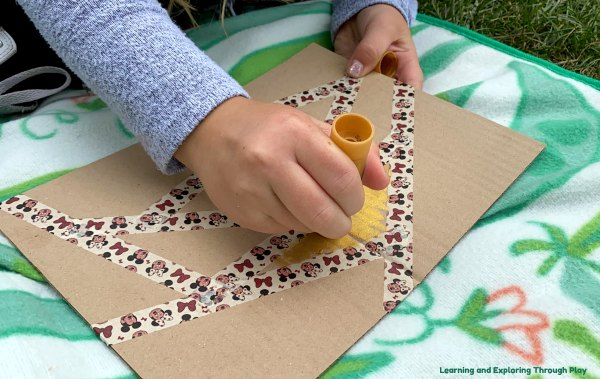 Cardboard Abstract Art Early Years and Forest School Ideas