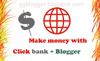 earn money with clickbank and blogger