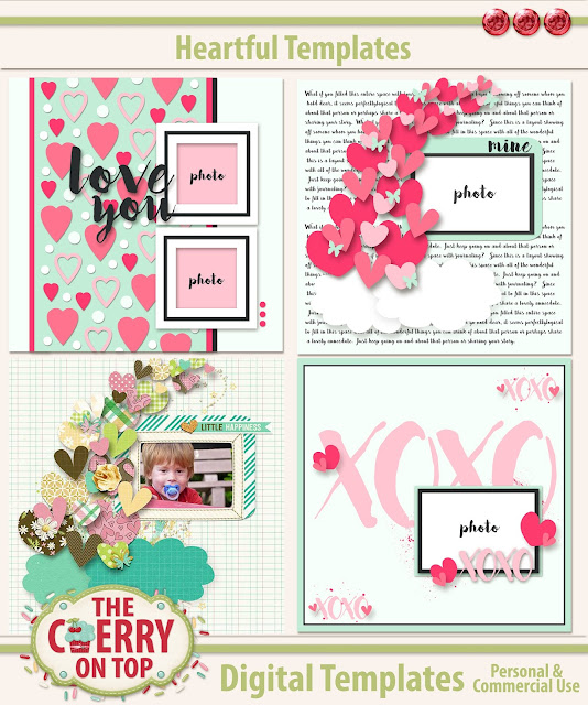 Heartful Templates from The Cherry On Top