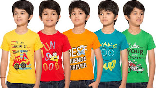 Maniac Boys Printed T Shirt Pack of 5