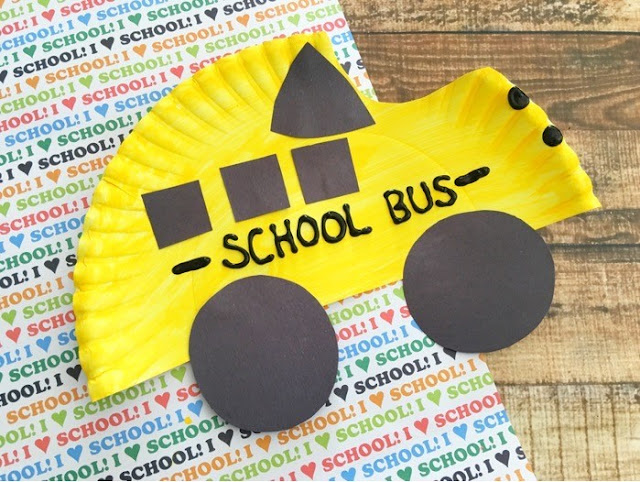 How To Make Yellow Craft Bus School