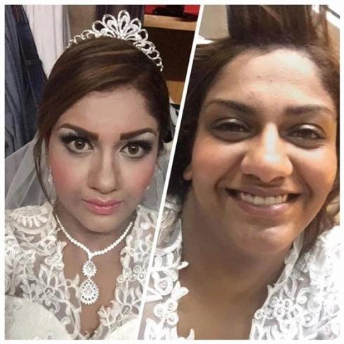 عروس تضع صورتها قبل وبعد المكياج على موقع الفيس بوك فحصلت الكارثة مجلة الصبا