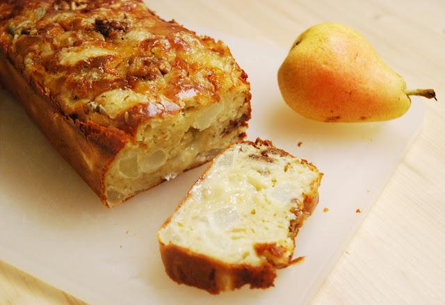 Cake poires - gorgonzola - noix