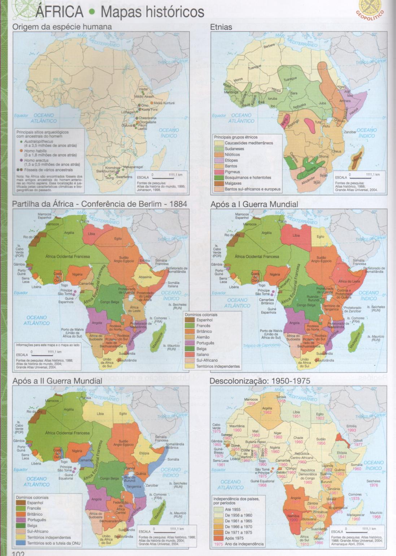 ÁFRICA - MAPAS HISTÓRICOS DA ÁFRICA