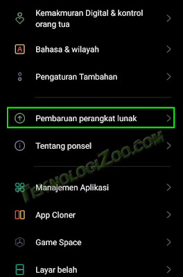 cara update android 11 oppo