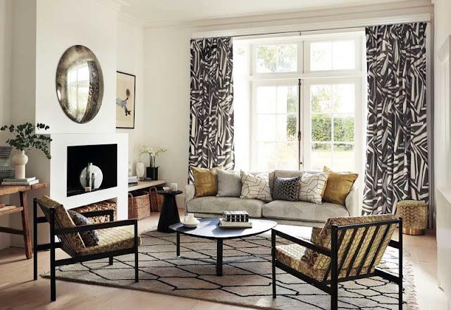 cortinas preto e branco