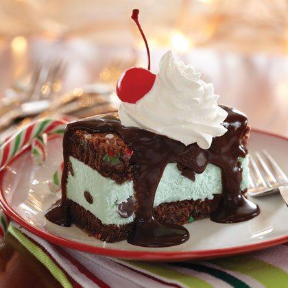 Funfetti® Holiday Mint Brownie Ice Cream Sandwiches