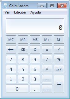Calculadora - Accesorios de Windows
